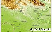 Physical Map of Dehlorān