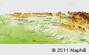 """Physical Panoramic Map of the area around 32°36'26""""N,48°31'29""""E"""