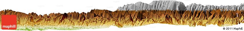 Physical Horizon Map of Lāveh-ye Pā'īn