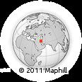 Outline Map of Amīr Ol Momenīn, rectangular outline