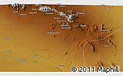 Physical 3D Map of Ābchū'īyeh