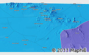 Political 3D Map of Ābchū'īyeh