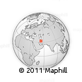 Outline Map of Maza`eh-ye Now, rectangular outline