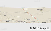 Shaded Relief Panoramic Map of Mazra`eh-ye Now