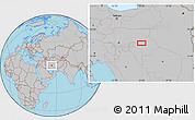 Gray Location Map of Shahr-e Now