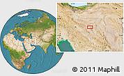 Satellite Location Map of Shahr-e Now