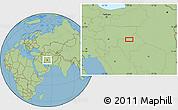 Savanna Style Location Map of Shahr-e Now