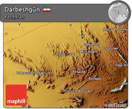 Physical Map of Darbeshgūn
