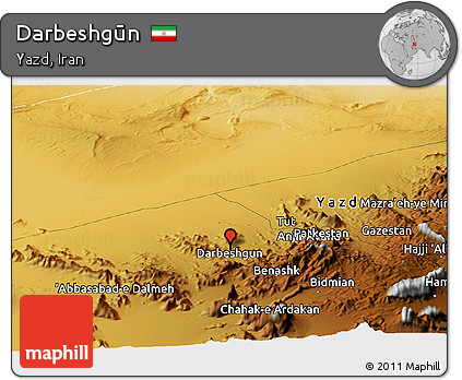 Physical Panoramic Map of Darbeshgūn