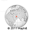 Outline Map of Robāţ-e Zīrāb, rectangular outline