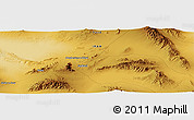 "Physical Panoramic Map of the area around 32° 36' 26"" N, 55° 19' 30"" E"