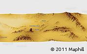 Physical Panoramic Map of Rīzāb