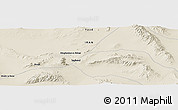 "Shaded Relief Panoramic Map of the area around 32° 36' 26"" N, 55° 19' 30"" E"