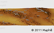 "Physical Panoramic Map of the area around 32° 36' 26"" N, 59° 34' 30"" E"