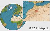 Satellite Location Map of Midelt