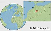 Savanna Style Location Map of Midelt