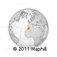 """Outline Map of the Area around 32° 36' 26"""" N, 5° 52' 30"""" W, rectangular outline"""