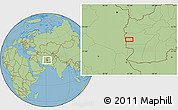 "Savanna Style Location Map of the area around 32°36'26""N,61°16'29""E"