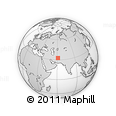 """Outline Map of the Area around 32° 36' 26"""" N, 61° 16' 29"""" E, rectangular outline"""