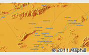 Political 3D Map of Farāh