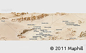 Satellite Panoramic Map of Farāh