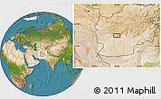 """Satellite Location Map of the area around 32°36'26""""N,63°49'30""""E"""