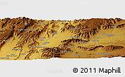 Physical Panoramic Map of Tarīn Kowt