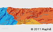 Political Panoramic Map of Tarīn Kowt