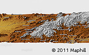 Physical Panoramic Map of `Abdollāhjān Kalay