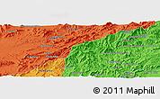 Political Panoramic Map of `Abdollāhjān Kalay