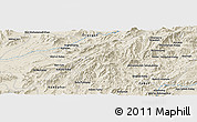 Shaded Relief Panoramic Map of `Abdollāhjān Kalay