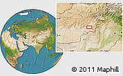 """Satellite Location Map of the area around 32°36'26""""N,68°4'29""""E"""
