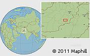 "Savanna Style Location Map of the area around 32°36'26""N,68°4'29""E"