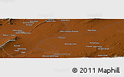 Physical Panoramic Map of Aḩmaḏay