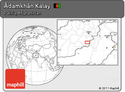 Blank Location Map of Ādamkhān Kalay