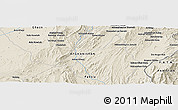 "Shaded Relief Panoramic Map of the area around 32° 36' 26"" N, 68° 55' 30"" E"