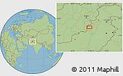 "Savanna Style Location Map of the area around 32°36'26""N,69°46'30""E"