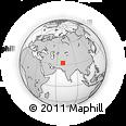 Outline Map of Waziristan, rectangular outline