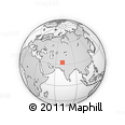 """Outline Map of the Area around 32° 36' 26"""" N, 70° 37' 30"""" E, rectangular outline"""