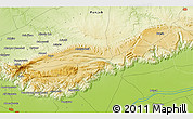 """Physical 3D Map of the area around 32°36'26""""N,72°19'29""""E"""