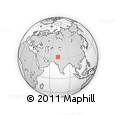 """Outline Map of the Area around 32° 36' 26"""" N, 72° 19' 29"""" E, rectangular outline"""
