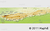 """Physical Panoramic Map of the area around 32°36'26""""N,72°19'29""""E"""