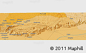 """Political Panoramic Map of the area around 32°36'26""""N,72°19'29""""E"""