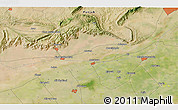 """Satellite 3D Map of the area around 32°36'26""""N,73°10'30""""E"""