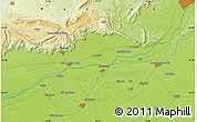 """Physical Map of the area around 32°36'26""""N,73°10'30""""E"""