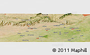 "Satellite Panoramic Map of the area around 32° 36' 26"" N, 73° 10' 30"" E"