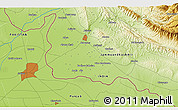 Physical 3D Map of Muzaffarpur