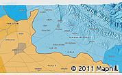 Political 3D Map of Jammu