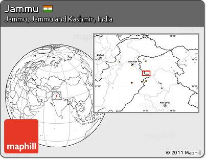 Blank Location Map of Jammu
