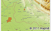 """Physical Map of the area around 32°36'26""""N,74°52'30""""E"""
